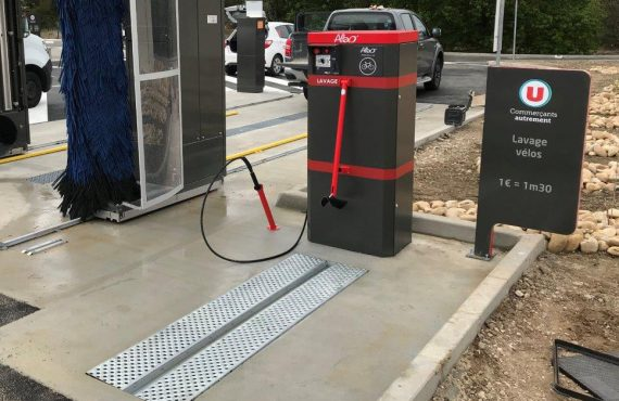 point de lavage vélo ALTAO® Modulo en métal