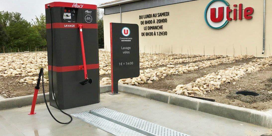 point de lavage vélo ALTAO® Modulo d'un magasin U