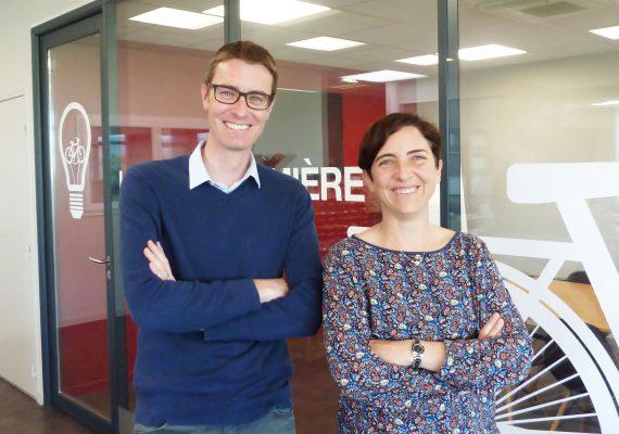 photo Julien Lefebvre et Corinne Verdier de l'article: Altinnova révolutionne le stationnement vélo