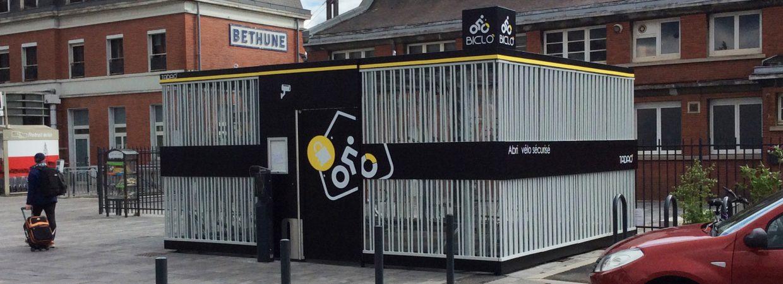 nouvel abri vélo sécurisé à Béthune