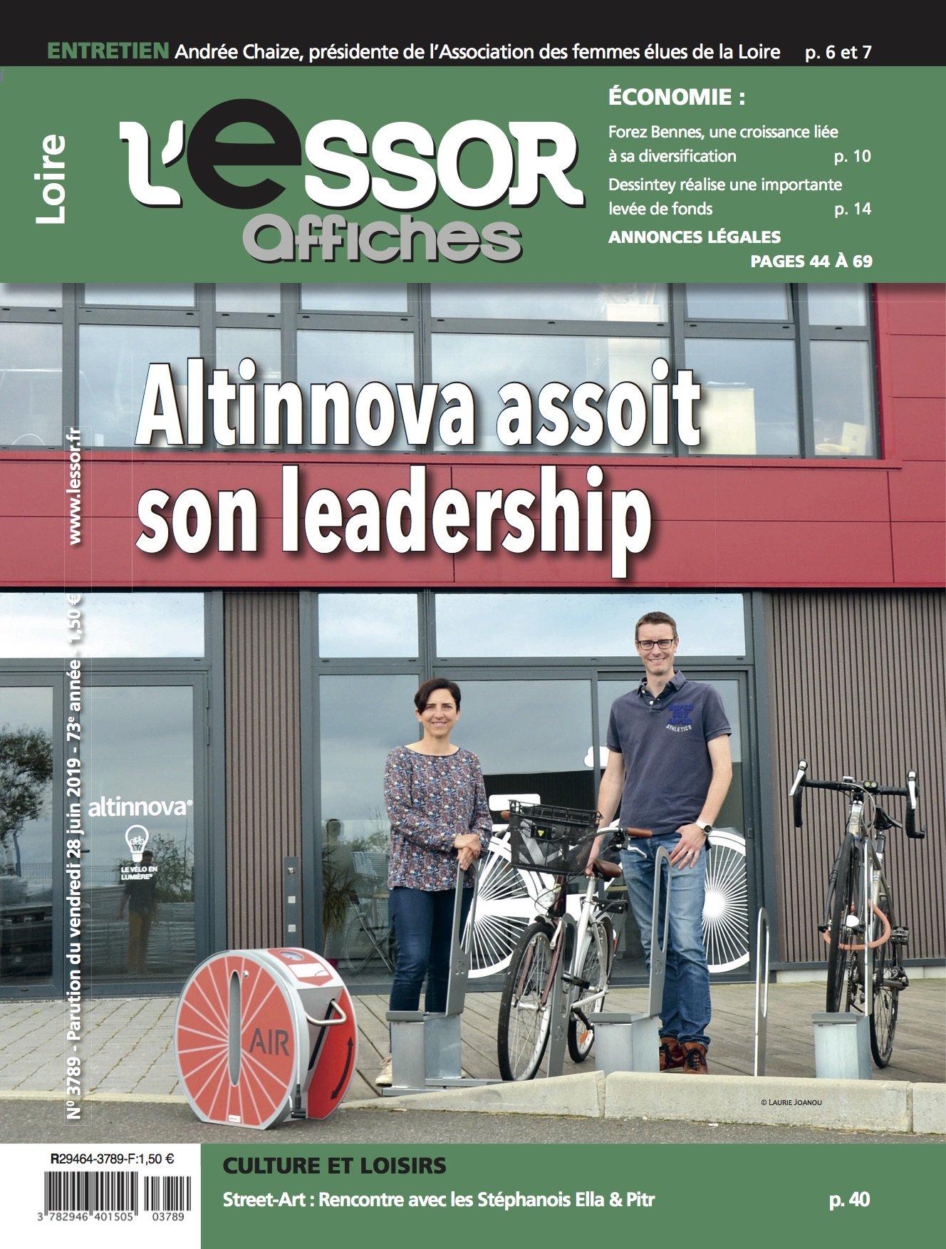couverture et titre de l'Essor : Altinnova assoit son leadership