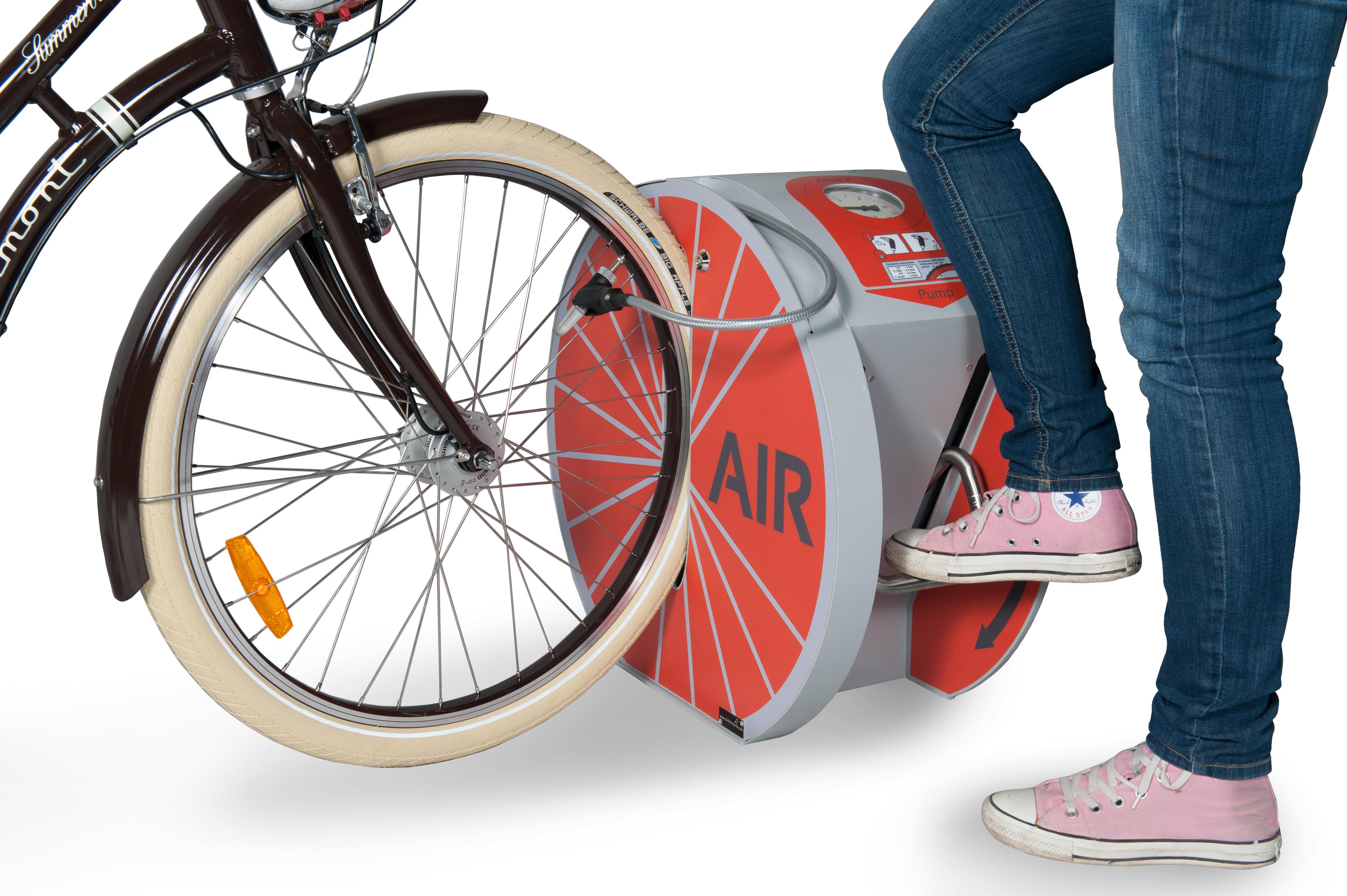 station de gonflage vélo ALTAO Pump : une des solutions pour les cyclistes