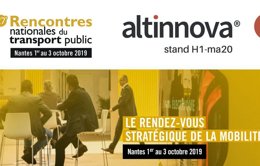 visuel Altinnova aux Rencontres Nationales des Transports Publics 2019