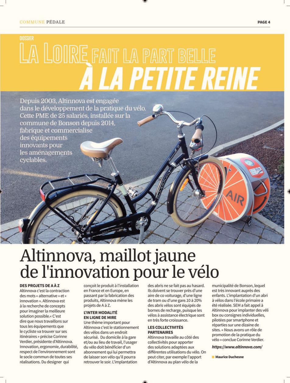 article Altinnova maillot jaune de l'innovation pour le vélo