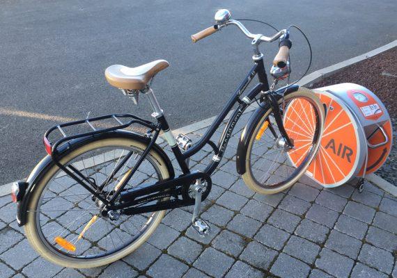 photo article commune passion Altinnova maillot jaune de l'innovation pour le vélo