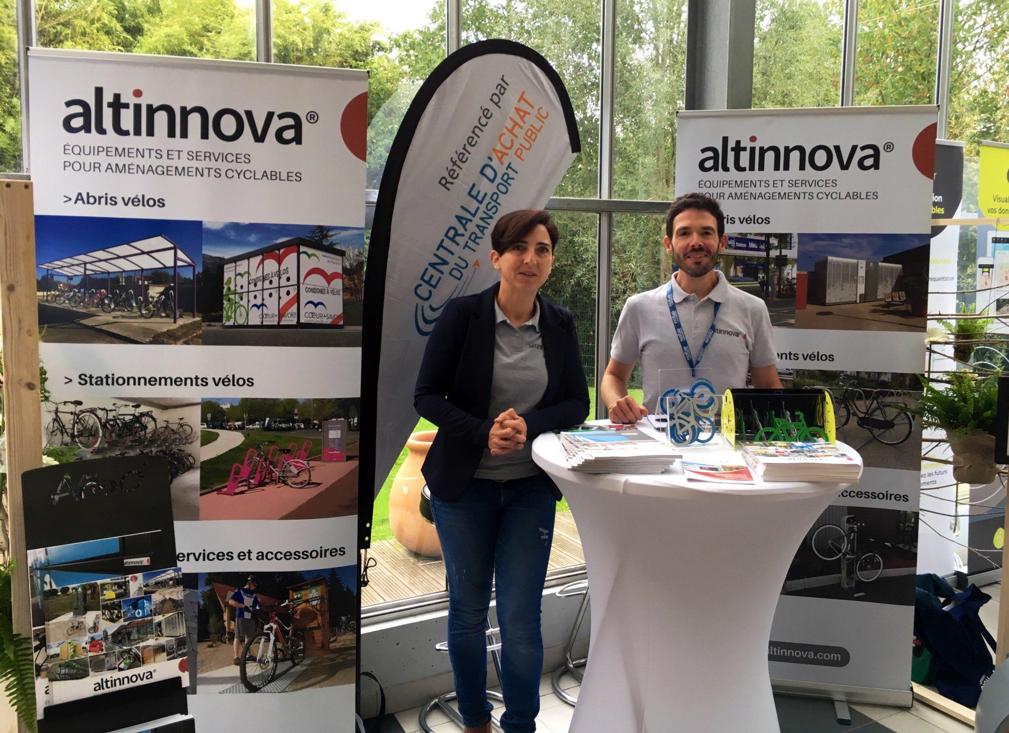 stand Altinnova aux rencontres vélo & territoires 2019 à Angers