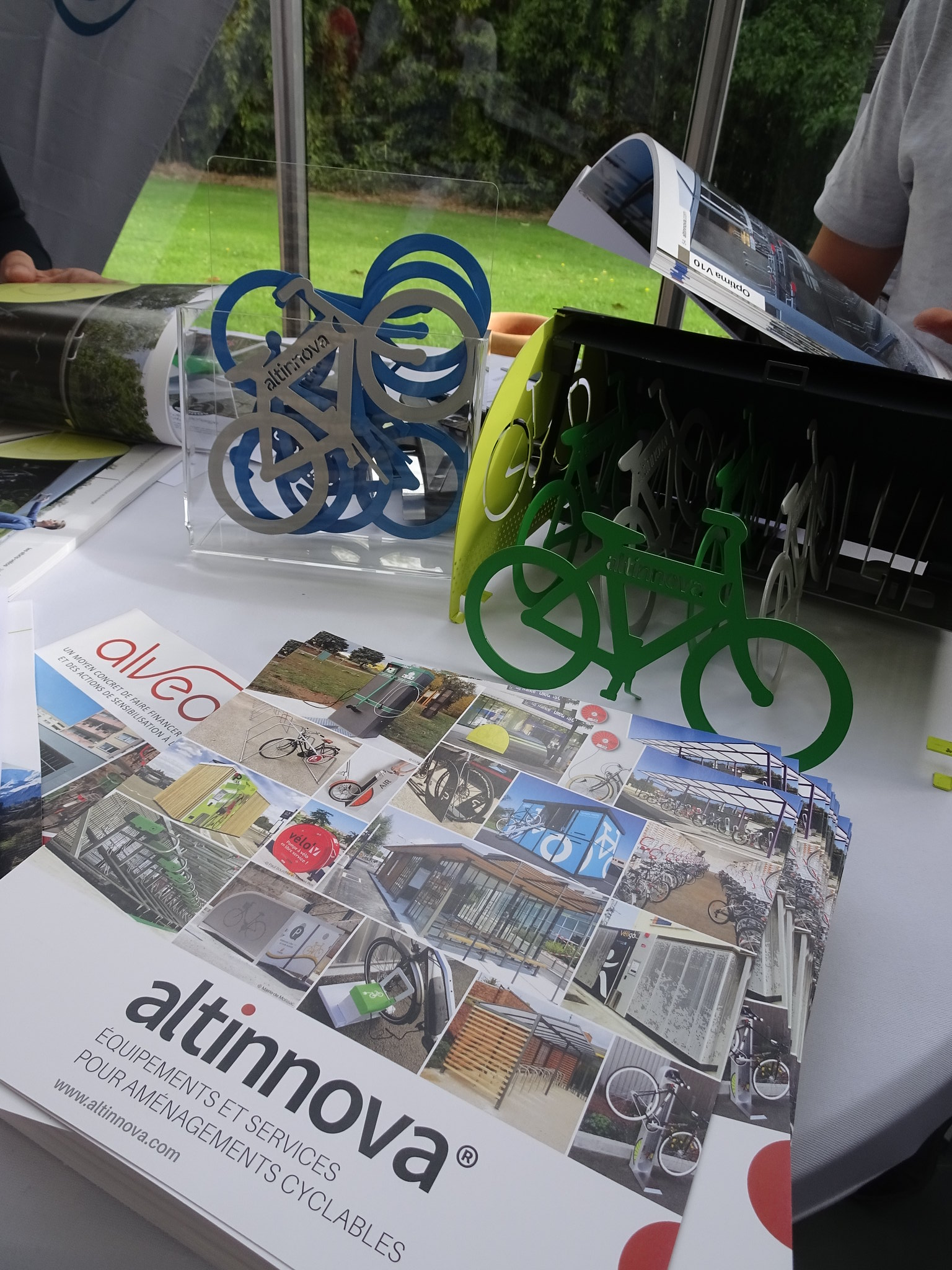 maquette box vélo Altinnova aux rencontres vélo & territoires 2019