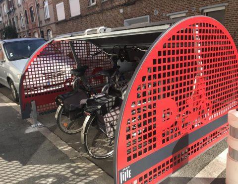 box à vélo ALTAO Cover de Lille avec porte ouverte