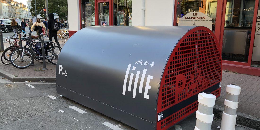 box à vélo pour le stationnement résidentiel à Lille