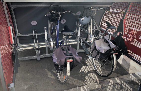 intérieur du box à vélo sécurisé ALTAO Cover de Lille