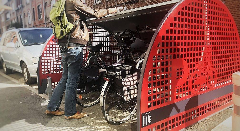 utilisation du box à vélo ALTAO Cover à Lille