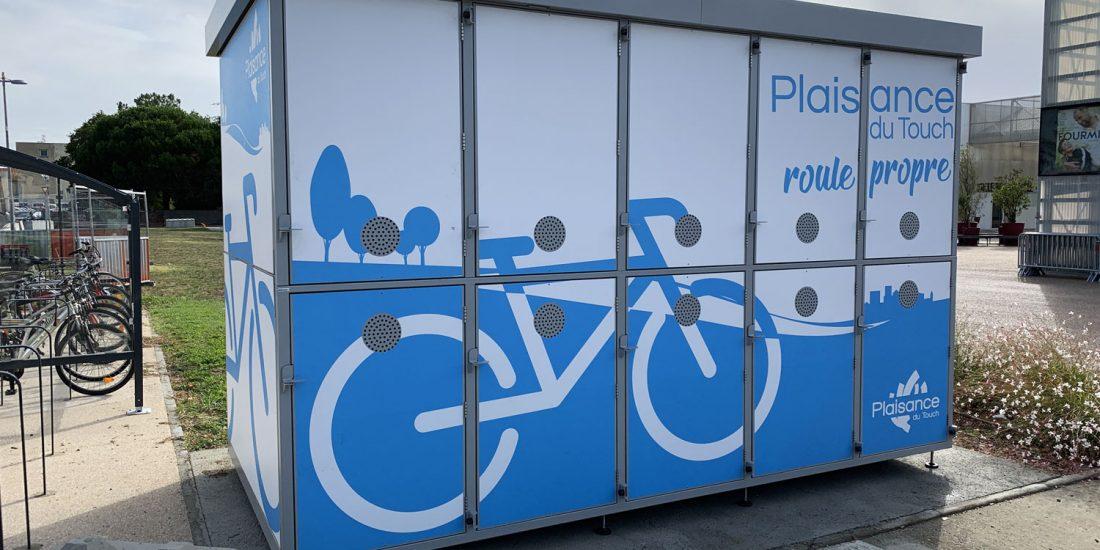 consigne à vélos ALTAO Duplex de Plaisance du Touch