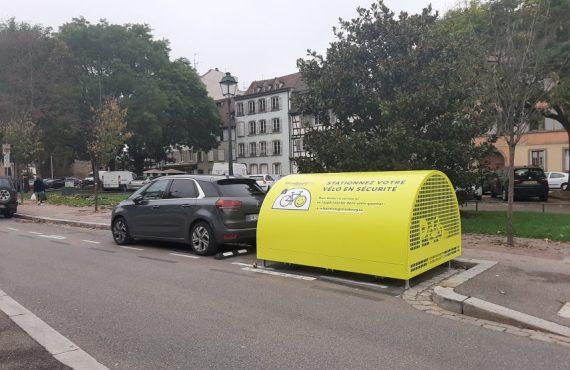box à vélo de Strasbourg installé et en service