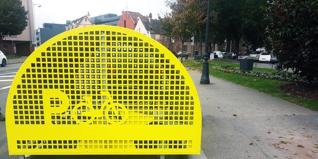consigne à vélos installée à Starsbourg