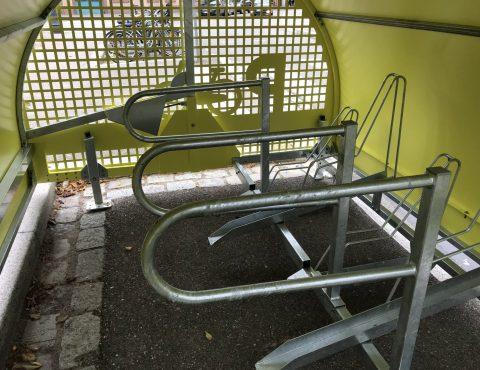 intérieur du vélobox de Strasbourg