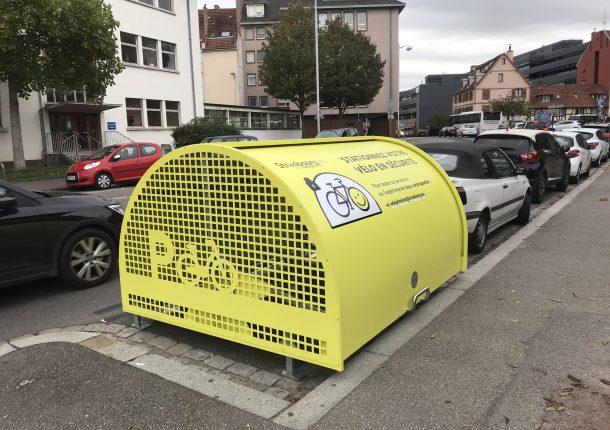 ALTAO Cover installé à Strasbourg pour stationner son vélo en sécurité