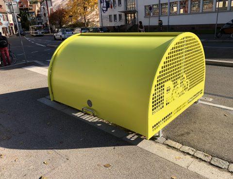 premier vélobox de Strasbourg juste installé