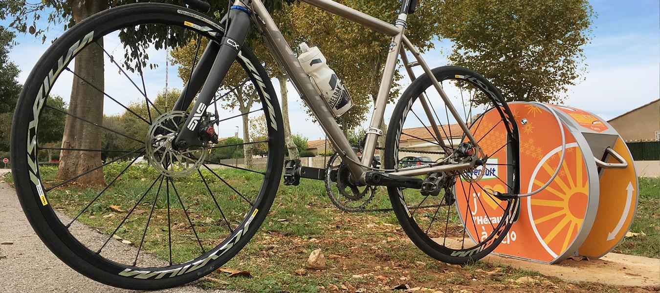 station de gonflage vélo ALTAO Pump en Hérault