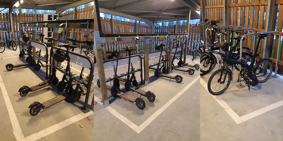 équipement de stationnement pour les vélos pliables et trottinettes