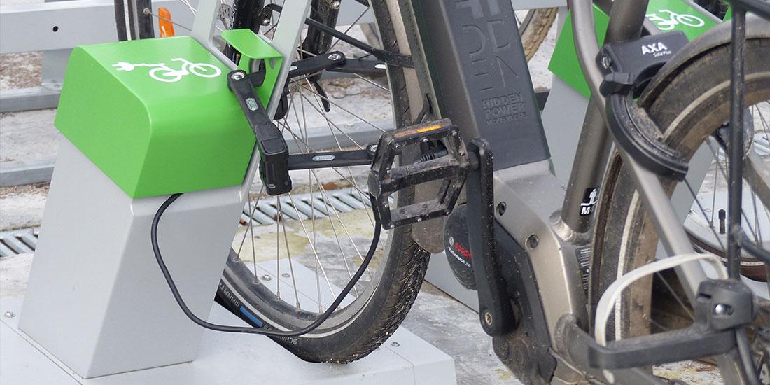 borne de recharge vélo électrique en entreprise