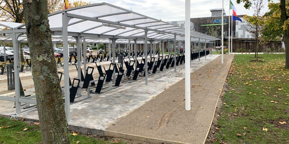 Nouveau parking vélos de l'entreprise ADEO