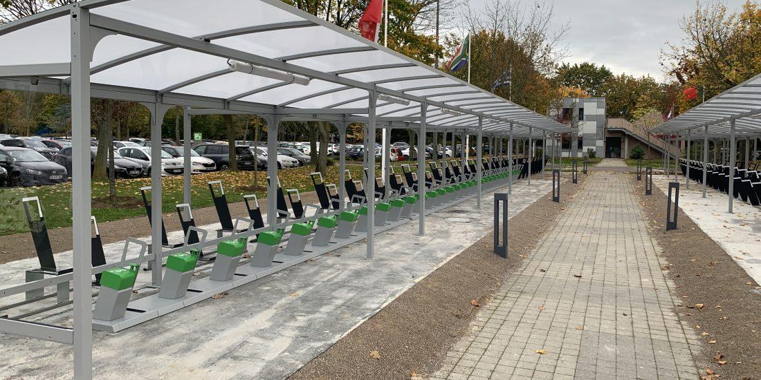 Bel exemple de stationnement vélos en entreprise