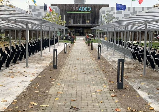 parking vélos d'entreprise équipé et installé par Altinnova
