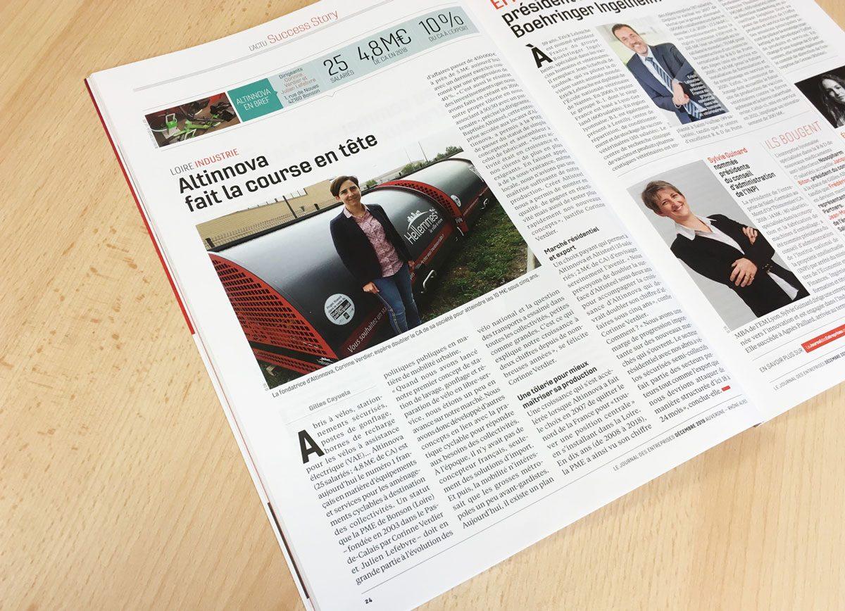 photo de l'article du Journal Des Entreprises sur Altinnova