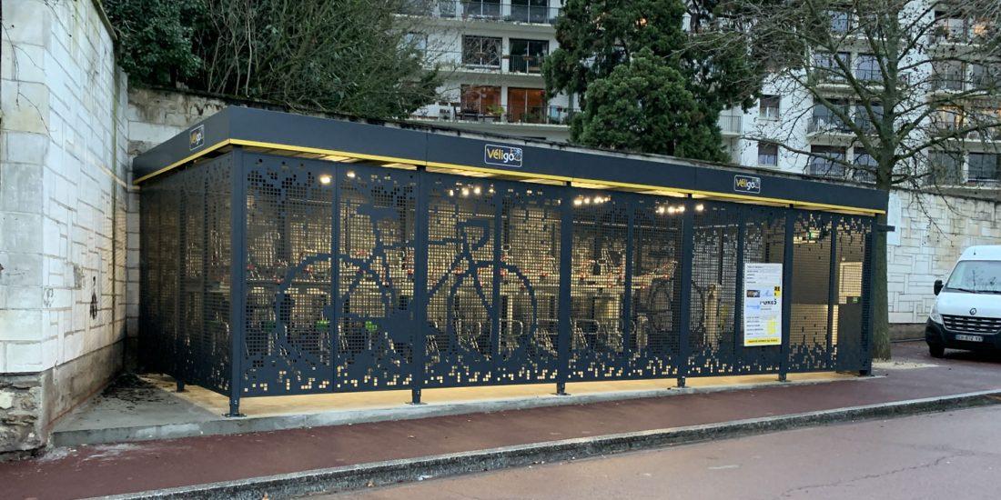 habillage de l'abri vélo ALTAO Spacio fermé