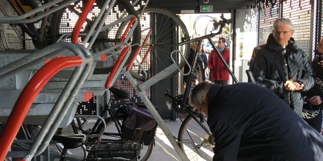 rail coulissant des racks de stationnement Optima V7