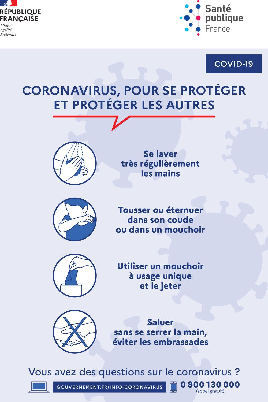 affiche gestes barrieres contre le coronavirus