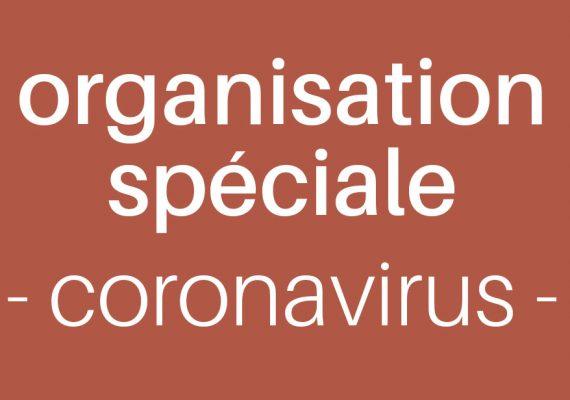 visuel organisation spéciale contre le coronavirus