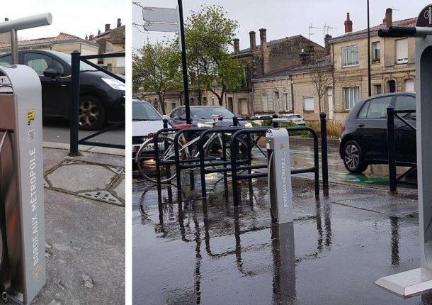 station de gonflage et borne de réparation Bordeaux Métropole