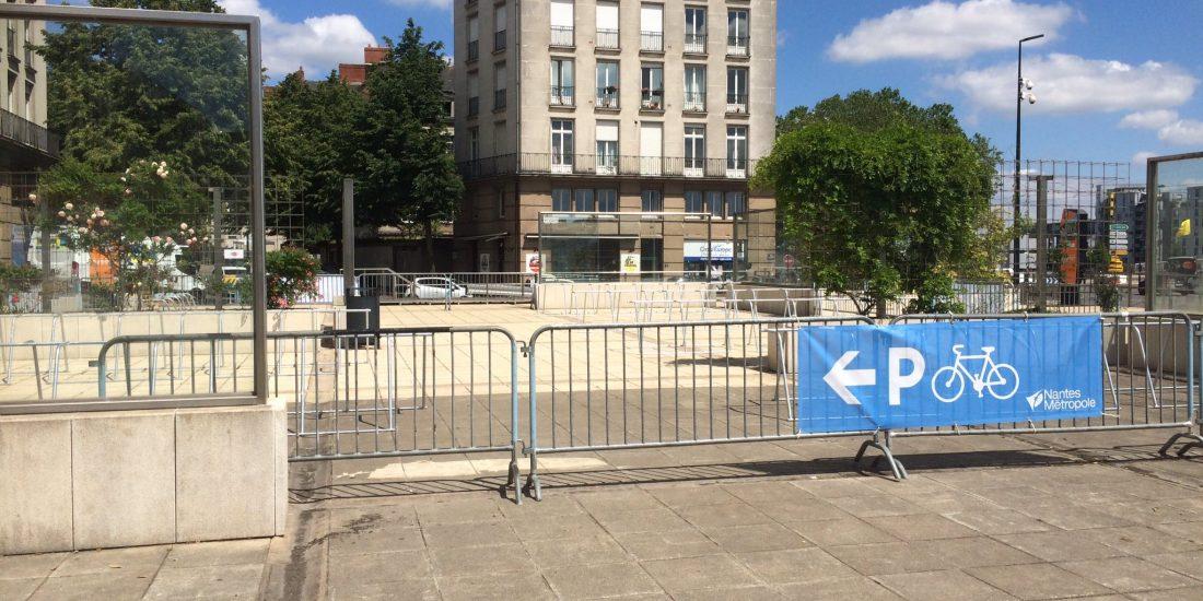 parkings vélos temporaires Débords de Loire