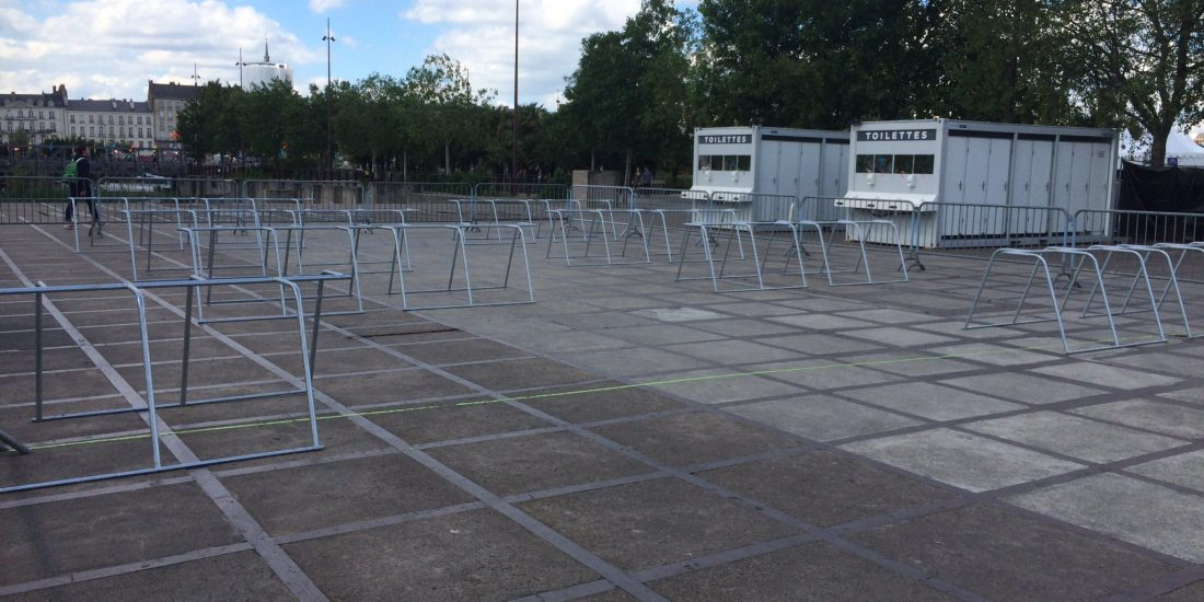 parking vélos événementiel de Nantes juste installé