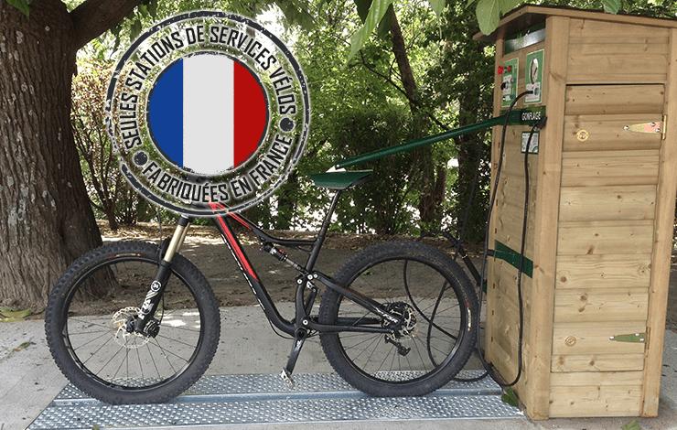 station de lavage et gonflage vélo ALTAO® Modulo