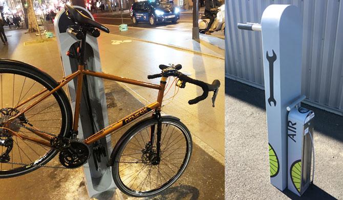 Station de réparation vélo ALTAO® Fix'Air à Paris