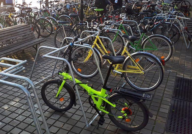 racks de stationnement vélos temporaire ALTAO Mobile utilisés lors d'un événement