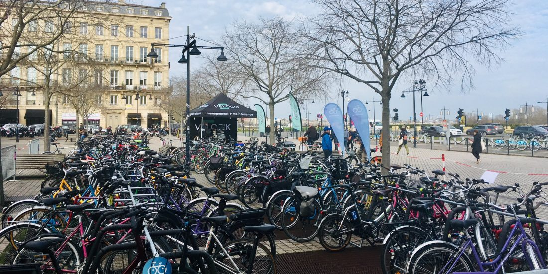 parking vélos du Congrès de la FUB 2020 à Bordeaux