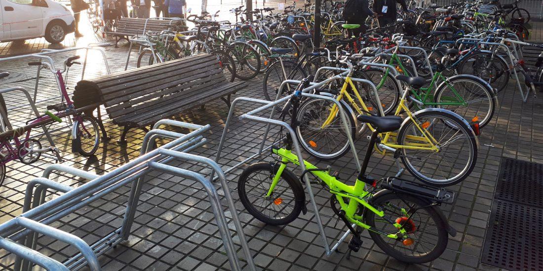 parking à vélos du Congrès de la FUB 2020 à Bordeaux