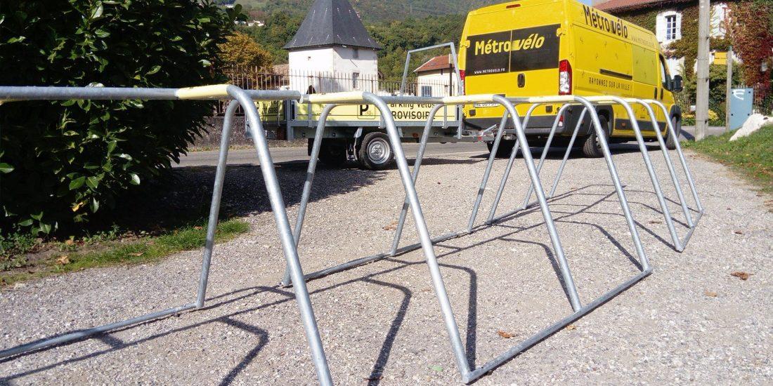 parking vélos événementiel à la Coupe Icare à Grenoble