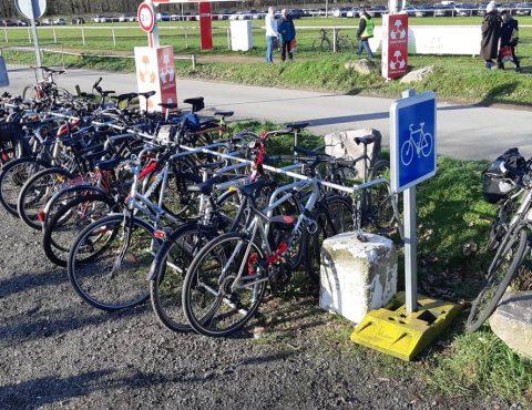 Stationnement vélos temporaire au Mans