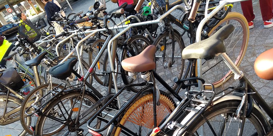 Racks de stationnement vélos ALTAO® Mobile au Festival La Bonne Aventure à Dunkerque