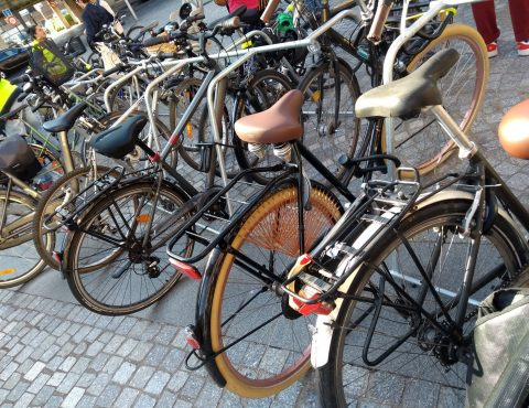 racks de stationnement temporaire au Festival La Bonne Aventure à Dunkerque
