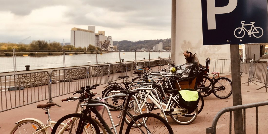 parking vélos pour la Foire Saint Romain à Rouen