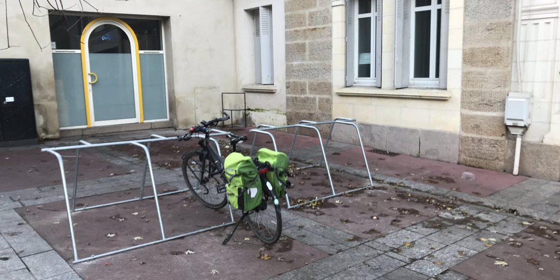 stationnement vélos expérimental à Nantes