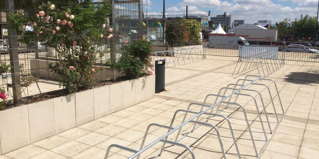 arceaux de stationnement vélo temporaire à Nantes