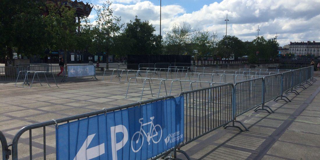 parking vélos éphémère à Nantes