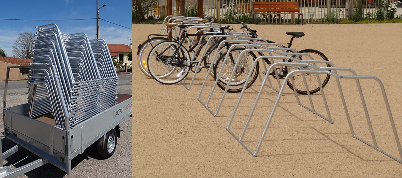 rack de stationnement temporaire vélo ALTAO Mobile ALTINNOVA