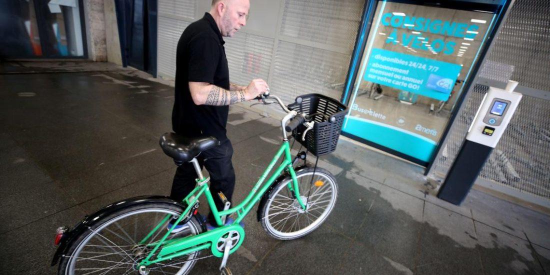entrée de la consigne vélos d'Amiens